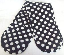 Retro Black and White Polka Dot Double Oven Kitchen Glove One Size 100 Cotton