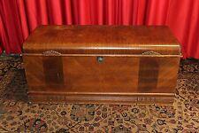 Vintage Antique Art Deco  Cedar Chest Trunk