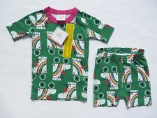 Hanna Andersson 100 Girls 4 Pajamas Short John Organic Cotton NEW NWT