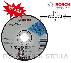 MOLA DISCO TAGLIO SBAVO 115 X 2,5 X 22 BOSCH FERRO METALLO SMERIGLIATRICE