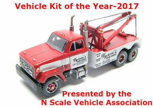 N Scale 70's GMC Holmes Wrecker (Long Hood) Truck Kit by Showcase Miniatures(92)