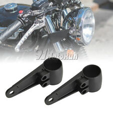 35mm-41mm Black Fork Headlight Mount Brackets For Motorcycle Chopper Cafe Racer