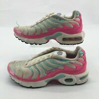 Nike Air Max Plus South Beach Running Sneakers 718071-102 White Pink Youth 4.5Y