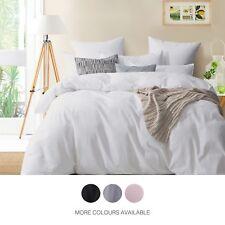 Gioia Casa 100% Cotton Modern Corduroy Duvet Doona Quilt Cover Bedding Set