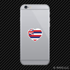 Hawaii Heart Cell Phone Sticker Mobile HI love hearts pride native