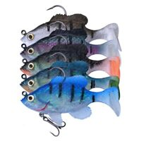 5pcs Lead Head Jigs Soft Fishing Lures with Hook Sinking Swimbaits for Saltwater
