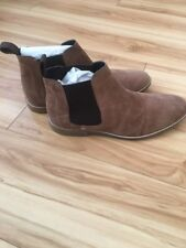 Ben Sherman Mens Ankle Boots Tan Sueded US 9.5 EUR 42.5