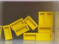 LEGO Parts - Yellow Tile 1 x 2 w Groove - No 3069b - QTY 10