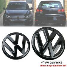 Logo Noir Brillant emblème calandre coffre, avant/arrière VW GOLF VI 6 MK6