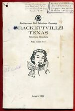 1969 January Brackettville Area Code 512 Texas tx Telephone Directory Phone Book