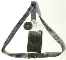 First Order Star Wars Deluxe Lanyard w Rubber Charm & ID Card-Licensed