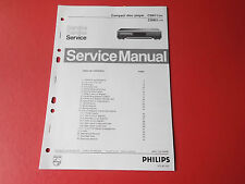 Philips CD911 CD921 CD Player orig. Service Anleitung Manual