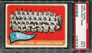 1965 Topps #234 White Sox Team Card PSA 7 NM