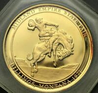 MONTANA 1971 Charles M. Russell Silver Medallion Midland State Fair Gold Plate