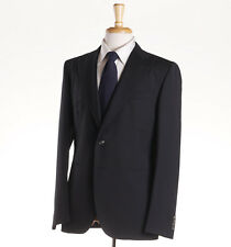 NWT $1495 BOGLIOLI Black Peak Lapel Year-Round Wool 'Hampton' Suit 36 R (Eu 46)
