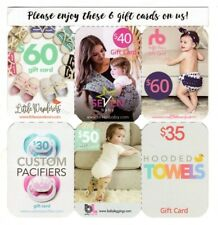 $275 Baby Gift Cards Little Wanderers Ruffle Buns Hooded Towels Custom Pacifiers