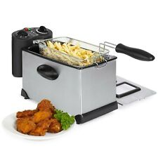 BCP 6-Piece 1700W 3L Stainless Steel Deep Fryer