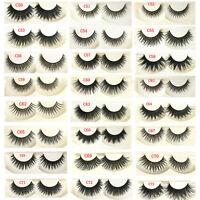 5Pair Eye Lashes Makeup Handmade Soft Natural Thick Long False Fake Eyelashes M3