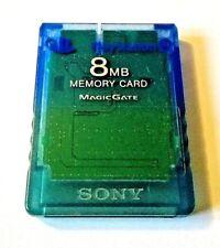 Carte Mémoire Officielle Sony PlayStation 2 PS2 8MB Transparente Bleu