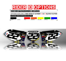 1996 1997 1998 1999 2000 2001 YZ 125 250 CUSTOM NUMBER PLATE BACKGROUND DECALS