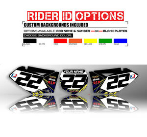 2006 2007 2008 2009 YAMAHA YZF 250 / 450 CUSTOM NUMBER PLATE BACKGROUND DECALS