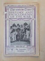 TIMES HISTORY OF THE WAR WWI MAGAZINE # 101 JULY 1916 MAP TURKEY & MESOPOTAMIA