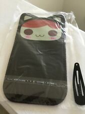 New listing New Cute small cell phone pen pouch wallet Black Sunny Day Ginger Cat iphone 5/6