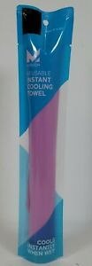 """Mission Reusable Cooling Towel Pink On-the-Go Size 8"""" x 30"""""""