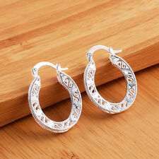 New Women's Fashion Jewelry 925 Silver Plated Small Hoop Dangle Earrings 29-5