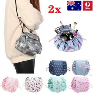 2x Cosmetic Bag Large Portability Drawstring Makeup Bag Storage Travel Pouch AUS