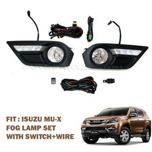 For 2013-2015 All New Isuzu Mu X Mu-X Suv Led Fog Lamp Spot Light Set + Switch