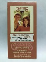 """Carpenters I Need To Be In Love Top Of The World Japan 3"""" 8cm CD Single 1995"""