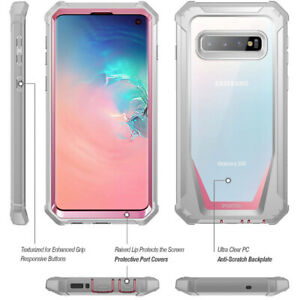 [50pcs] For Galaxy S10 Bumper Shockproof Case Cover | 360 Degree Protetive Pink