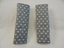 Baby Car Seat Belt Strap Covers Highchair Stroller Pram - Stars on Grey