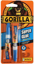 GORILLA SUPER GLUE 2 X 3G TUBES TOUGH QUICK SETTING LEATHER METAL RDGTOOLS