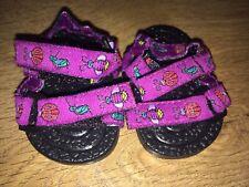 American Girl Purple Velcro Sandals For Dolls