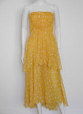 TIKTINER Luxus Vintage Bustierkleid Seide Couture Silk Chiffon Dress 34-36/XS-S