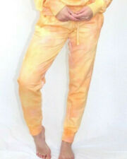 Bleu Cow handmade tie dye Sweatpants joggers with pockets Malibu Sunrise New