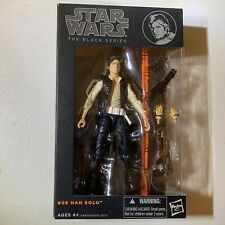 Hasbro Star Wars Series 8 Han Solo Action Figure Black Series Orange Line 6in