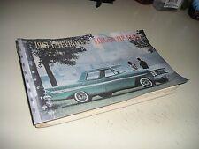 1961 ORG.CHEVROLET/CORVETTE/CORVAIR/IMPALA FINGER TIP FACT DEALER MANUAL/ALBUM