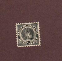 NEWFOUNDLAND Scott#58, 1/2c, Black, 1887-96 Issue, M-LH