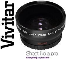 Gran Angular Vivitar HD4 Optics con Lente Macro para Sony HDR-FX7