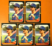 1987 Donruss #43 (RC) RAFAEL PALMEIRO ~ 5 CARDS LOT ~ HE WAS A VERY GOOD HITTER