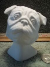 Pug Dog Head Bust Ceramic Bisque U-Paint Ready To Paint Pugs Dogs