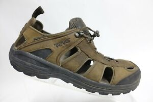 TEVA Kimtah Brown Sz 12 Men Waterproof Leather Sandals