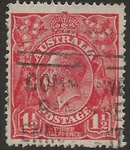 KGV     11/2d RED  SINGLE WMK    *21R51 SCRATCHED ELECTRO STATE 11*