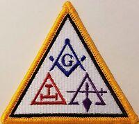 Freemason Symbol Embroidered Iron-On Patch Masonry Emblem Mason Version II