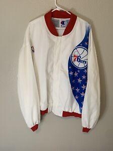 philadelphia 76ers Vintage Champion Warm Up Jacket, Size XXL