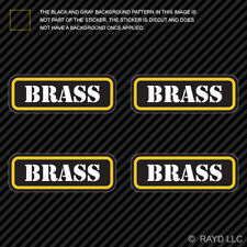 (4x) Brass Ammo Can Sticker Set Decal Self Adhesive molon bullet type 2