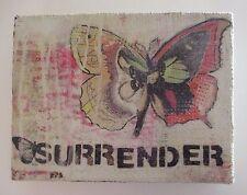 "zzQ SURRENDER LINEN Wall Art Kelly Rae Roberts Butterfly 8"" x 6"""